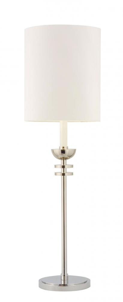 One Light Nickel Table Lamp