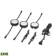 Alico MLE313-5-31K - Tuxedo 3 Piece LED Undercabinet Light Set In Black