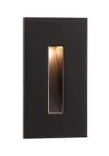 CSL Online SS3008-BZ - LED STEP LIGHT BRONZE 120V 3W 2850K +/-100K W/DRIVER MOUNTS TO SINGLE GANG BOX