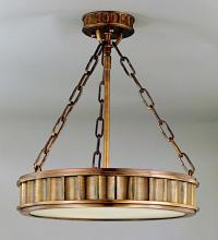 Hudson Valley 901-AGB - 3 Light Semi Flush