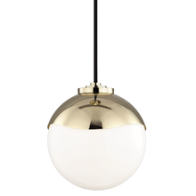 Hudson Valley H125701S-PB - 1 Light Small Pendant