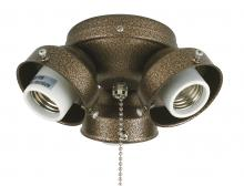 Fanimation F301AB-220 - 3-LIGHT TURTLE FITTER: ANTIQUE BRASS 220 VOLT