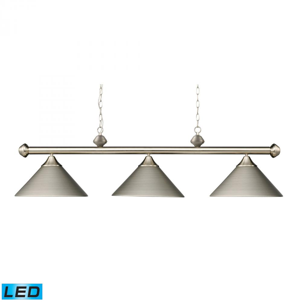 Casual Traditions 3 Light LED Billiard In Satin