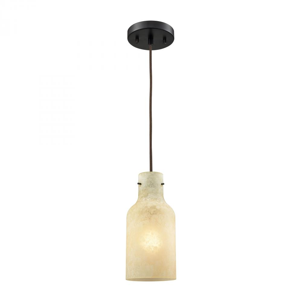 Weatherly 1 Light Pendant In Oil Rubbed Bronze W