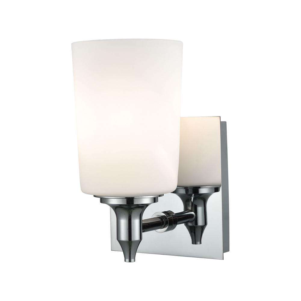 Alton Road 1 Light Vanity In Chrome And Opal Gla