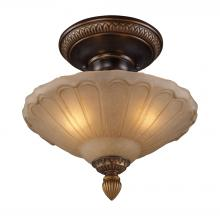 ELK Lighting 08092-AGB - Restoration Flushes 3 Light Semi Flush In Antiqu