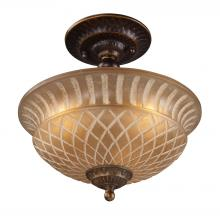 ELK Lighting 08097-AGB - Restoration Flushes 3 Light Semi Flush In Antiqu