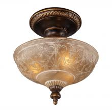 ELK Lighting 08100-AGB - Restoration Flushes 3 Light Semi Flush In Antiqu