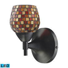 ELK Lighting 10150/1DR-MLT-LED - Celina 1 Light LED Sconce In Dark Rust And Multi