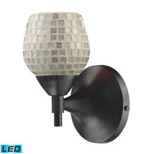 ELK Lighting 10150/1DR-SLV-LED - Celina 1 Light LED Sconce In Dark Rust And Silve