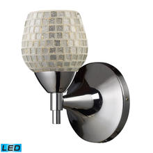 ELK Lighting 10150/1PC-SLV-LED - Celina 1 Light LED Sconce In Polished Chrome And