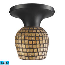 ELK Lighting 10152/1DR-GLD-LED - Celina 1 Light LED Semi Flush In Dark Rust And G