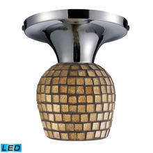 ELK Lighting 10152/1PC-GLD-LED - Celina 1 Light LED Semi Flush In Polished Chrome