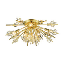 ELK Lighting 11758/8 - Starburst 8 Light Semi Flush In Polished Gold