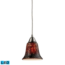 ELK Lighting 31130/1FDG-LED - One Light Satin Nickel Down Pendant