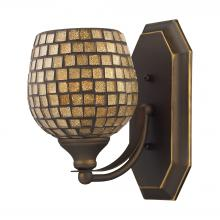 ELK Lighting 570-1B-GLD - Bath And Spa 1 Light Vanity In Aged Bronze And G