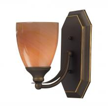 ELK Lighting 570-1B-SY - Bath And Spa 1 Light Vanity In Aged Bronze And S