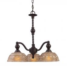 ELK Lighting 66196-3 - Norwich 3 Light Chandelier In Oiled Bronze And A