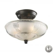 ELK Lighting 66335-3-LA - Restoration Flushes 3 Light Semi Flush In Oiled