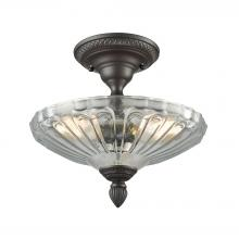 ELK Lighting 66392-3 - Restoration Flushes 3 Light Semi Flush In Oil Ru